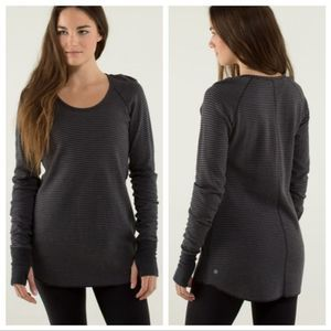 Lululemon Open Your Heart Reversible Sweater Gray